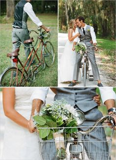 Shawn suite with bike tie tandem bike wedding ideas. daisy daisy give me your answer do... you'll look sweet upon the seat of a bicycle built for two.