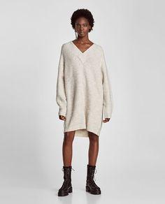Image 1 of OVERSIZED SWEATER DRESS from Zara