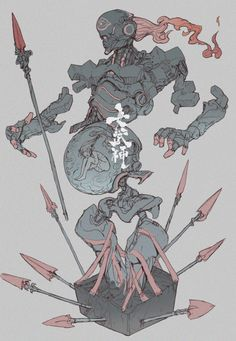Titan of war Ching yeh ArtStation Character Creation, Fantasy Character Design, Character Design Inspiration, Character Concept, Character Art, Robot Concept Art, Creature Concept Art, Creature Design, Game Concept