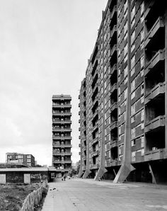 Hutchesontown Area C, Glasgow, Sir Basil Spence, early Glasgow Architecture, British Architecture, Council Estate, Edinburgh University, Tower Block, Social Housing, Old Trees, Urban Industrial, Glasgow Scotland