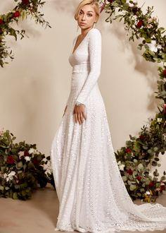 Indie Wedding Dress, Western Wedding Dresses, Open Back Wedding Dress, Bohemian Wedding Dresses, Wedding Dress Sleeves, Long Sleeve Wedding, Bridal Dresses, Lace Wedding, Maxi Dresses