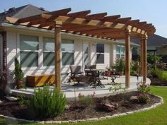Inspirational ideas decks and patios designs that will make you fall in love. When most people take into consideration decks and patios designs and with so Diy Pergola, Curved Pergola, Pergola Canopy, Pergola Attached To House, Deck With Pergola, Outdoor Pergola, Wooden Pergola, Covered Pergola, Pergola Shade