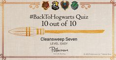 """I got """"10 out of 10"""" on """"Pottermore's Back to Hogwarts Quiz - Easy"""". What about you?"""