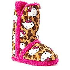 79faece86 Slippers For Girls, Slipper Boots, Bearpaw Boots, Girls Accessories, Hello  Kitty,