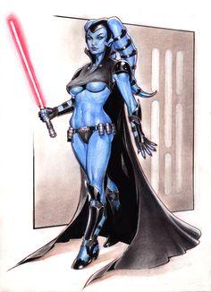 Aayla Secura - Star Wars - Reverie-drawingly.deviantart.com