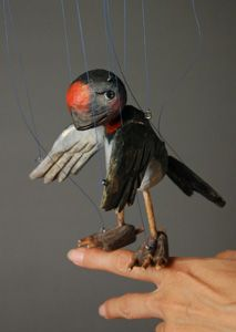 beautiful nadorani wooden marionette (fits into palm of your hand) made by sota sakuma. ♥