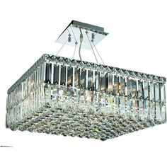 """Maxime 20"""" Crystal Chandelier with 12 Lights - Chrome Finish and Spectra Swarovski Crystal"""