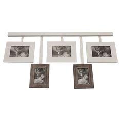 Crafted from solid paulownia wood and featuring a white finish, this five aperture photo frame adds the finishing touch to your living room scheme.