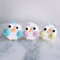 Bird marshmallows by Sally (@crave4sweet)