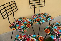recover chair seats with oilcloth