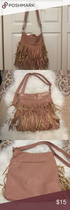 Candie's Fringe Boho Sling Purse Super cute purse that would match your boho outfit. Good condition. Has normal wear and tear. Please see photo Candie's Bags Crossbody Bags