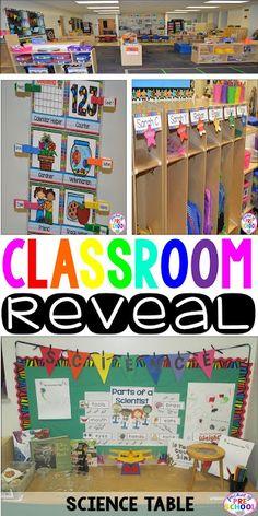 Classroom Reveal 2015: A colorful preschool classroom! Pocket of Preschool