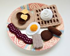play food - Breakfast! (a pattern to purchase, unless you're creative with crochet)