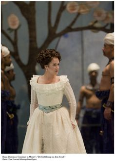 Soprano Diana Damrau as Constanze in Mozart's Abduction From the Seralgio. Diana, Amadeus Mozart, Metropolitan Opera, 18th Century Fashion, Ballet, Opera Singers, Music Love, Musical Theatre, Classical Music