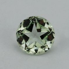 Description : GREEN AMETHYST PANTAGON ROUND WITH STAR CUT BACK (DES#43) 12MM Product Size : 12MM Grade : Approx weight per piece : 6.09 C...