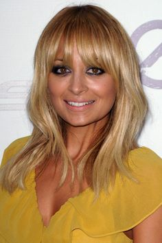 Nicole Richie's sunny blonde fringe - celebrity hair and hairstyles