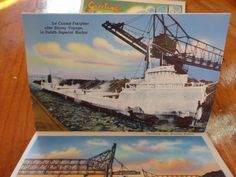After Stormy Voyage 1937 Souvenir Folder of Superior Wisconsin.