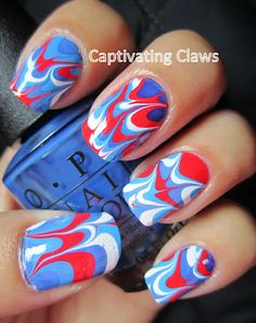 Captivating Claws-- A Memorial Day Marble
