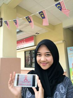 Hello, she is samhana. Now she study in Malaysia and she support #breastcavery