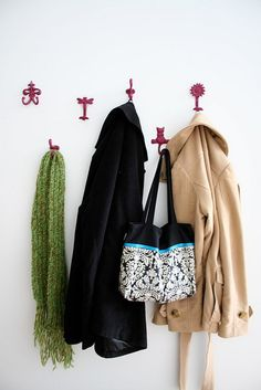 Hallway Coat Rack by loveandoliveoil, via Flickr