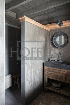 Earthy/rustic, walk in shower area//Details Bathroom