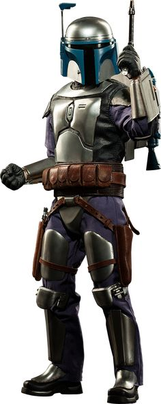 """Sideshow Collectible Star Wars Jango Fett Sixth Scale Figure ~ """"Boasting a reputation as the best bounty hunter in the galaxy, the expert mercenary is ready for hire decked out in a hand-tailored flight suit, layered belts w holsters, pouches, hardshell armored vest, & western-style poncho. Fett's identity can be concealed behind his iconic Mandalorian helmet, or revealed w an additional swap-out portrait complete w pilot headgear."""" ~ New: $219.99 ~ Release Date: June 2015"""
