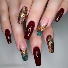 Beautiful colors. Are you looking for acrylic nail designs for fall and winter? See our collection full of cute fall and winter acrylic nail designs ideas and get inspired!
