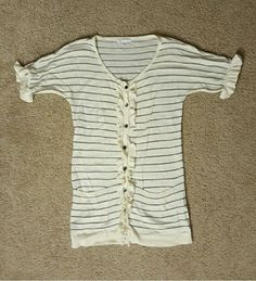 Gap short sleeve cardigan ruffle sleeves Small | Clothing, Shoes & Accessories, Women's Clothing, Sweaters | eBay!