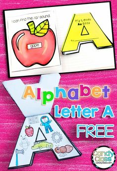 This is a fun way to teach the letter A! The alphabet shaped book turns letter recognition, handwriting, and beginning sound activities into arts and crafts! This flap book can be used in an interactive notebook or stand solo! Includes find the letter printable too! No prep possible and free!!!