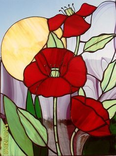 """Картины цветов ручной работы. Ярмарка Мастеров - ручная работа Панно """"Маки"""". Handmade."""