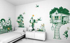 vinilos esquina de paraíso - vinilos infantiles para habitaciones bébés, niños, niñas por E-Glue estudio