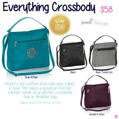 Everything Crossbody by Thirty-One. Fall/Winter 2015. Join my VIP Facebook Page at https://www.facebook.com/groups/JennaBrandes/