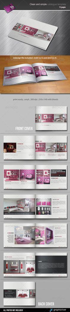 Clean And Simple Catalogue Template - GraphicRiver Item for Sale