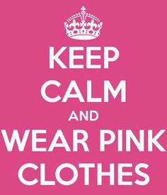 shirt for breast cancer run...keep calm and wear pink, keep calm and just run, keep calm and donate....
