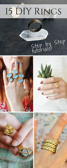 15 Of The Best DIY Ring Ideas With Full Tutorials - Creative Fashion Blog