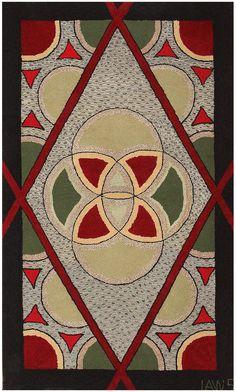1920 Art Deco American Hooked Rug 50273