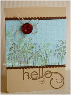stampin up card, hello