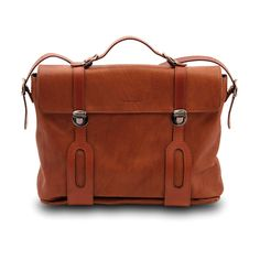 fine leatherworking | Pineider Small Collection Men's Leather Briefcase in Reddish Brown ...