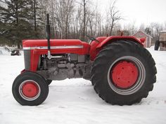 The 1961-1965 Massey Ferguson Super 90. Perkins Diesel or Continental Gas powered. Most often seen as a large Utility, as shown here, but also available in row crop wide or narrow front.