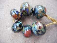 ~ Cindy's Handmade Lampwork Glass Focal Beads Double Helix Charms SRA OOAK 412