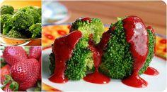 Brokuł z sosem truskawkowym po 10 miesiącu. więcej na http://www.osesek.pl
