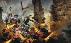 Cover from Pathfinder Adventure Path #74: Sword of Valor. Illo by Wayne Reynolds http://paizo.com/products/btpy8xsi