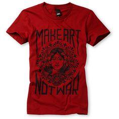 Obey Girls Make Art Not War. $29.95