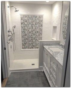 29 Popular Bathroom Shower Tile Design Ideas And Makeover. If you are looking for Bathroom Shower Tile Design Ideas And Makeover, You come to the right place. Here are the Bathroom Shower Tile Design. Bathroom Floor Tiles, Bathroom Renos, Bathroom Renovations, Bathroom Fixtures, Shower Tiles, Remodel Bathroom, Bathroom Storage, Bathroom Colors, Dyi Bathroom