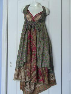 "Vintage Silk Wrap Skirt, 36"" Length, 1 SKIRT over 100 WAYS to WEAR"