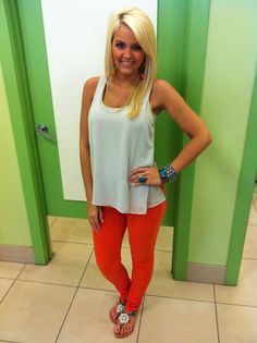 Thunder Orange basketball game outfit - Also very cute for my Syracuse Orange!