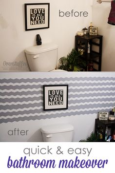Using Frog shape tape, make a stunning focal point wall in a small bathroom - Crafts Diy Home Easy Diy Projects, Home Projects, Home Decor Furniture, Diy Home Decor, Small Bathroom, Frog Bathroom, Grey Bathrooms, Bathroom Ideas, Shape Tape