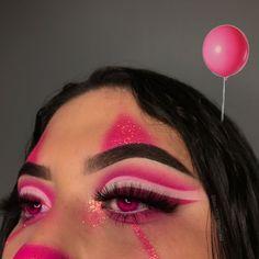 Cute Clown Makeup, Halloween Makeup Clown, Halloween Eyes, Halloween Makeup Looks, Halloween Outfits, Baddie Makeup, Fx Makeup, Makeup Inspo, Makeup Eye Looks