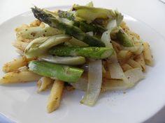 Pasta met venkel en groene asperges