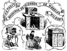 anúncio de máquina de costura, 1860